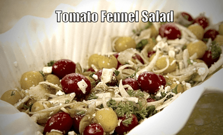 Yummy Fennel-tomato salad