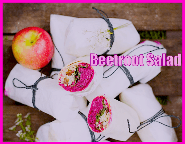 beetroot salad recipe wrapped with apple and cheese