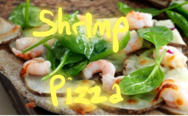 Shrimp Pizza with artichoke