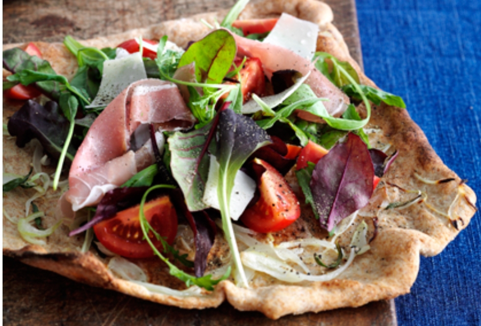 Pizza recipes pizza with onions salad