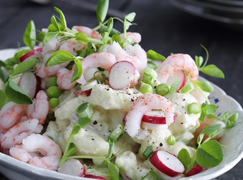 potato salad shrimp potato salad