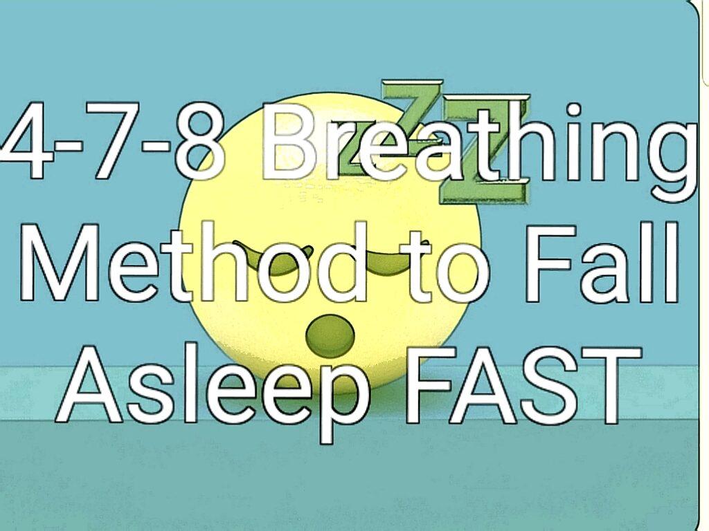 4-7-8 sleeping method