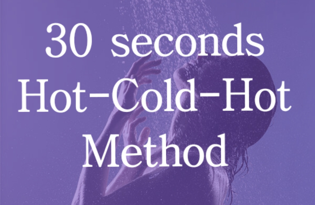Hot-cold shower method to get more energy
